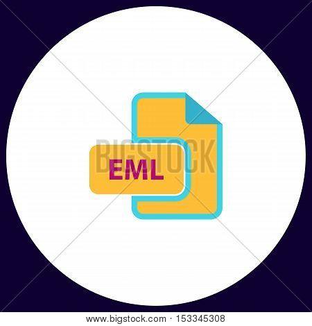 EML Simple vector button. Illustration symbol. Color flat icon