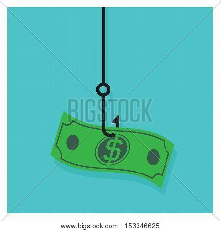 vector Money Business corruption on blue background