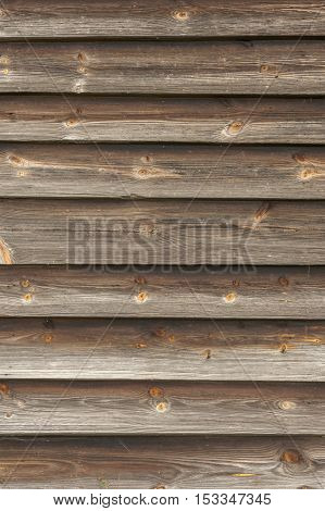 Horizontal brown wooden planks - texture or background