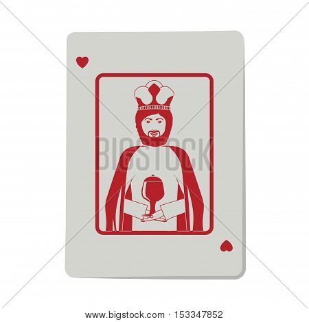 casino heart king cards poker icon. icon over white background.  gambling games design. vector illustration
