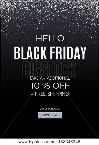 Black Friday design for advertising, banners, leaflets and flyers. Vector illustration.