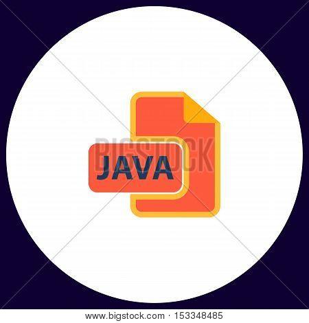 JAVA Simple vector button. Illustration symbol. Color flat icon