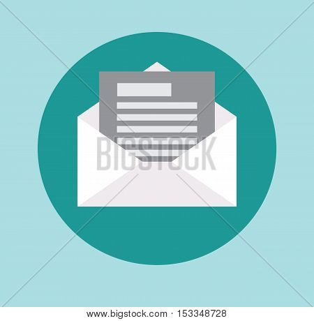 Letter, Email, Message, Communication Icon Symbol Concept Vector Flat Illustration Stock