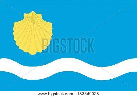 Flag of Olsztyn is the capital of the Warmian-Masurian Voivodeship in Poland