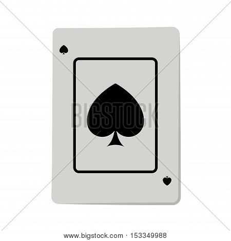 casino ace of spade cards poker icon over white background.  gambling games design. vector illustration