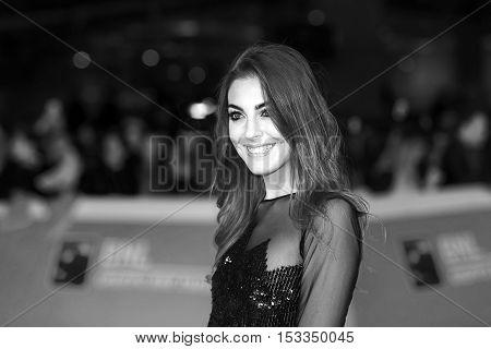 Rome Italy - October 20 2016. Adele Sammartino on the red carpet at the Cinema Rome Film Fest. At the Auditorium Parco della Musica.