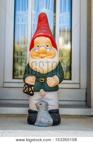 beautiful fairy gnome on the windowsill house
