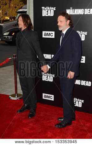 LOS ANGELES - OCT 23:  Norman Reedus, Andrew Lincoln at the AMC's Special Edition of