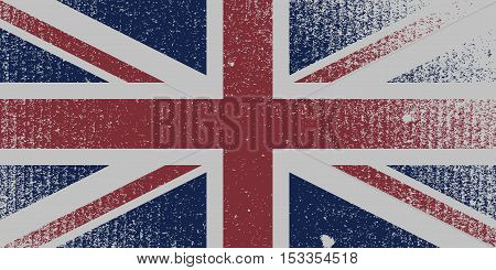 Distressed Flag Of The United Kingdom. EPS10 vector.