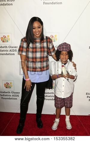 LOS ANGELES - OCT 23:  Tia Mowry, Cree Taylor Hardrict at the Elizabeth Glaser Pediatric AIDS Foundation A Time For Heroes Event at Smashbox Studios on October 23, 2016 in Culver City, CA