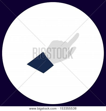 Hand Cursor Simple vector button. Illustration symbol. Color flat icon