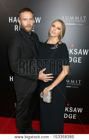 LOS ANGELES - OCT 24:  Mark Webber, Teresa Palmer at the