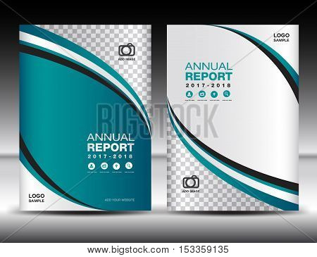 Green Cover template, cover annual report ,cover design business brochure flyer , magazine covers, book cover , presentation