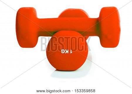 two Dumbbell isolated on a background white