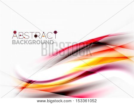 Vector shiny blurred line waves