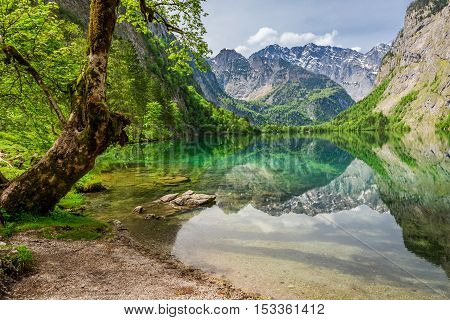 Wonderful View For Mountain Lake In Alps, Germany