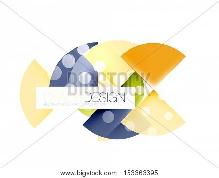 Dotted circles, abstract background