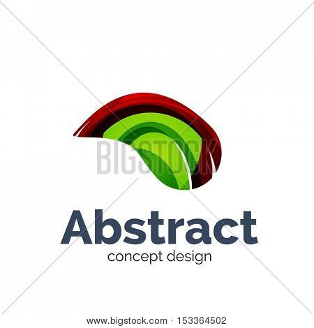 Unusual abstract business logo template - wave