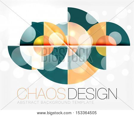 Abstract background with round color shapes and light effects. illustration