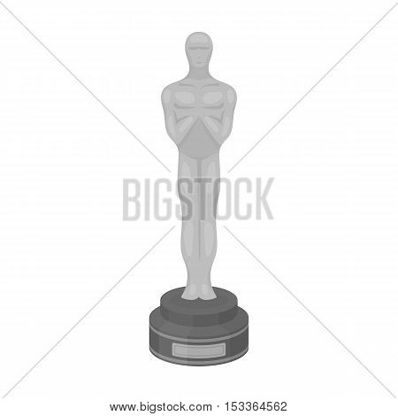 Academy award icon in monochrome style isolated on white background. Films and cinema symbol vector illustration.