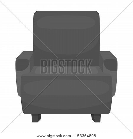 Cinema armchair icon in monochrome style isolated on white background. Films and cinema symbol vector illustration.