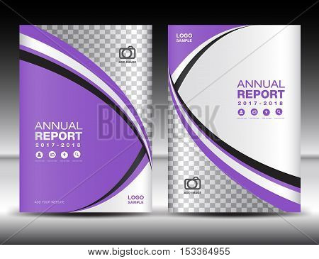 Purple Cover template, cover annual report, cover design , business brochure flyer, magazine covers, book cover , presentation