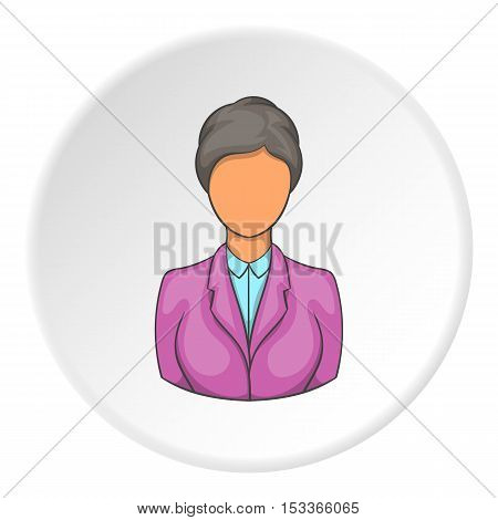 Hotel receptionist icon. Cartoon illustration of hotel receptionist vector icon for web