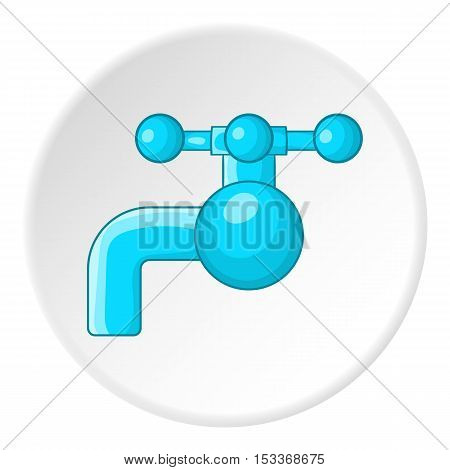 Water tap with knob icon. Cartoon illustration of water tap vector icon for web