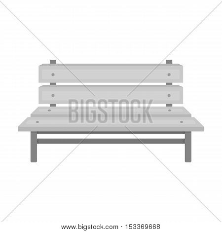 Bench icon in monochrome style isolated on white background. Park symbol vector illustration.
