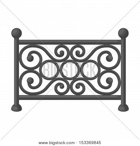 Fence icon in monochrome style isolated on white background. Park symbol vector illustration.