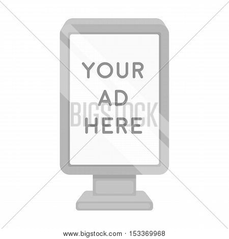 Banner frame icon in monochrome style isolated on white background. Park symbol vector illustration.
