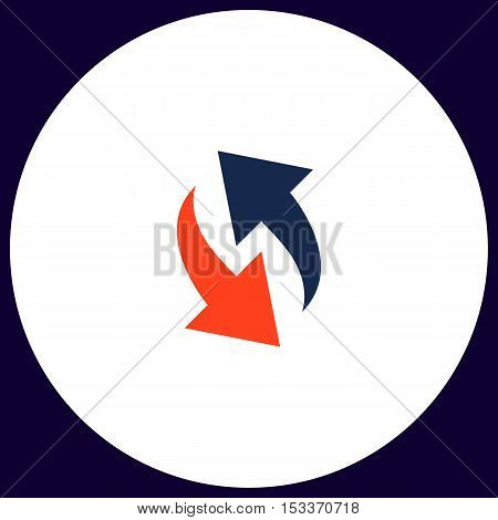 reload Simple vector button. Illustration symbol. Color flat icon