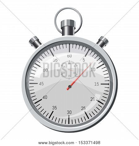 Stopwatch icon. Isometric 3d illustration of stopwatch vector icon for web