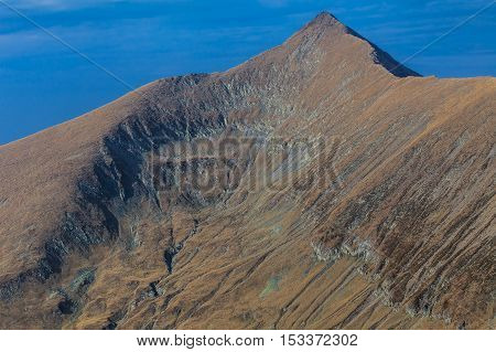 Landscape in Charpathian Mountains of Moldoveanu the highest summits of Romania (Moldoveanu 2544 m)
