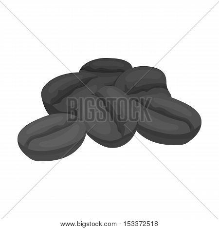 Coffee beans icon in monochrome style isolated on white background. Turkey symbol vector illustration.