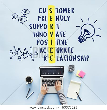 Service Customer Support Innovate Concept