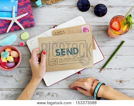 Airmail Free Delivery Letter Concept