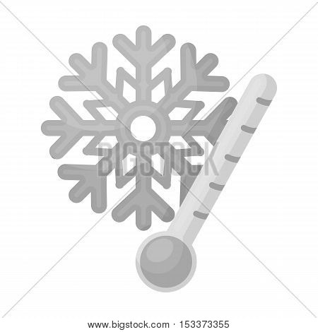 Frost icon in monochrome style isolated on white background. Weather symbol vector illustration.