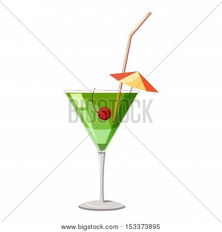 Martini glass of cocktail icon. Isometric 3d illustration of cocktail vector icon for web