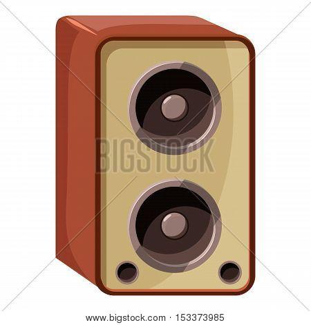 Sound speaker icon. Isometric 3d illustration of sound speaker vector icon for web