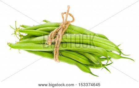 Beautiful Fresh Young Pods Of Kidney Beans Isolated On White Background