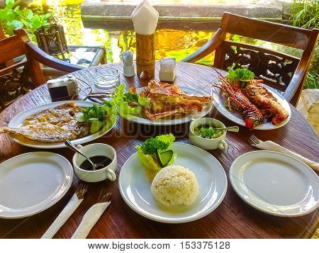 The dinner at Balinese Jimbaran beach which famous for it's perfect sea food restaurants