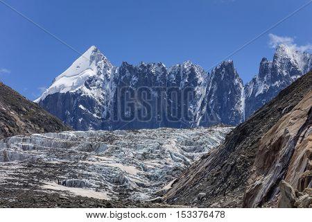 Argentiere Glacier. Mont Blanc Massif Alps France