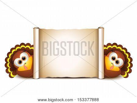 Thanksgiving Card Design Template. Vector illustration Hollyday