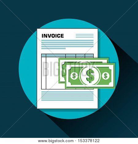 icon invoice form design vector illustration eps 10