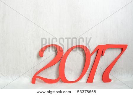 The Number 2017 In Red