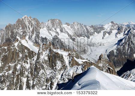 Alpine landscape in Haute Savoie, France