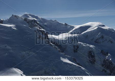 Mont Blanc(4810m) in Haute Savoie, France