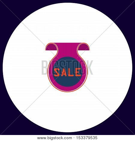 Sale Simple vector button. Illustration symbol. Color flat icon