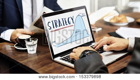Strategy Report Analytics Progress Concept
